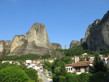 Village de Kastraki, Meteora, Grèce Photos libres de droits