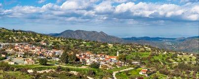 Village de Kato Lefkara Secteur de Limassol, Chypre Photographie stock libre de droits