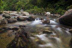 Village de Kiriwong avec le temps beau et une belle vue Images stock