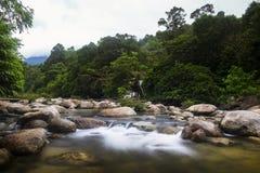 Village de Kiriwong avec le temps beau et une belle vue Image libre de droits