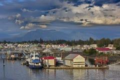 Village de l'Alaska de Pétersbourg images stock