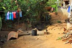 Village de l'Asie de l'Est et les gens - ethnie de Karen en Thaïlande images libres de droits