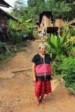 Village de l'Asie de l'Est et les gens - ethnie de Karen en Thaïlande image libre de droits