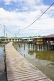 Village de l'eau, Brunei photographie stock libre de droits
