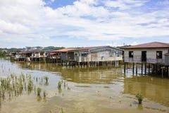 Village de l'eau, Brunei photos stock