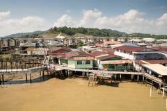 Village de l'eau, Brunei images libres de droits