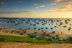 village de l'Espagne de pêche des Asturies cudillero photos stock