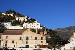 village de l'Espagne de sommet de frigiliana Image libre de droits