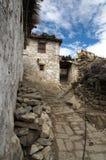 Village de l'Himalaya traditionnel Photographie stock