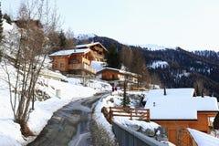 Village de l'hiver Photo libre de droits