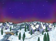 Village de l'hiver Image stock