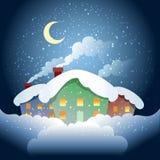 Village de l'hiver Images stock