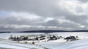 Village de l'hiver Photographie stock