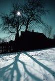 Village de l'hiver photo stock