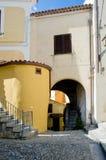 Village de l'Italie Scalea Photo libre de droits