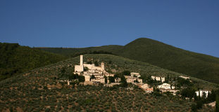 village de l'Ombrie Photos stock