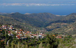 Village de la Chypre Photo stock