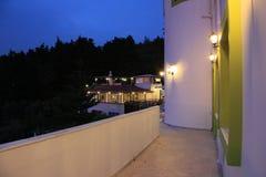 Village de la Grèce de soirée Images stock