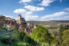 Village de La Poppie de St Cirq Photographie stock libre de droits