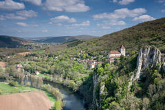 Village de La Poppie de St Cirq Image stock