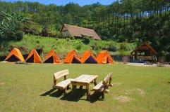Village de LAN de Cu, tourisme d'eco de Dalat images stock