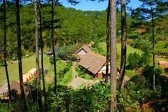 Village de LAN de Cu, tourisme d'eco de Dalat image libre de droits