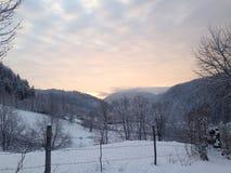 Village de lever de soleil Photo stock