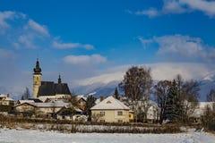 Village de Liptovsky janv. à l'hiver slovakia photo libre de droits