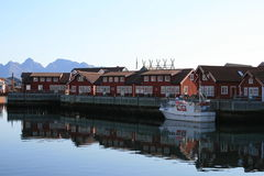 Village de Lofoten Image stock