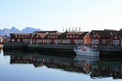 Village de Lofoten image stock