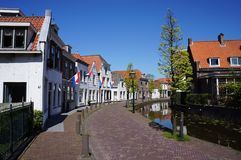 Village de Maasland aux Pays-Bas Images libres de droits