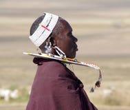 Village de masai tanzania photo libre de droits