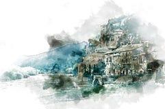 Village de Miravet illustration stock