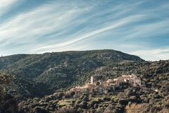 Village de montagne antique de Palasca en Corse photos stock