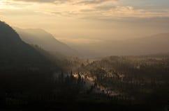 Village de montagne dans Probolinggo Image stock