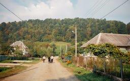 Village de montagne de nature Photo stock