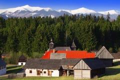 Village de montagne en bois Photos libres de droits