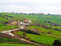 Village de montagne en Espagne photographie stock