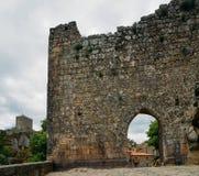 Village de montagne historique de Sortelha, construit dans les murs enrichis médiévaux, inclus dans le village historique du ` s  images stock
