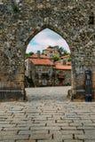 Village de montagne historique de Sortelha, construit dans les murs enrichis médiévaux, inclus dans le village historique du ` s  photo stock