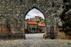Village de montagne historique de Sortelha, construit dans les murs enrichis médiévaux, inclus dans le village historique du ` s  photographie stock libre de droits