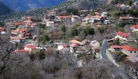 Village de montagne, Lemithou Chypre photographie stock libre de droits