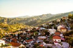 Village de montagne méditerranéen Photo stock