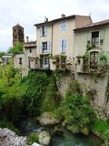 Village de Moustiers-Sainte-Marie, France, l'Europe photographie stock