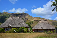 Village de Navala des Fidji Images libres de droits