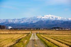 Village de neige photographie stock libre de droits