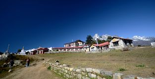 Village de Nepali de Tengboche photo stock