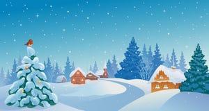 Village de Noël illustration stock