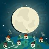 Village de nuit Images libres de droits