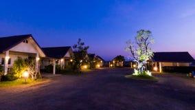 Village de nuit Image libre de droits
